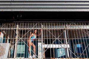 Sport woman posing