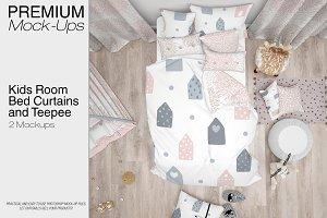 Kids Room - Bedding Curtains Teepee