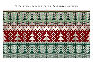 3 Knitted Christmas patterns