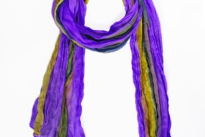colored patterned scarf, neckerchief