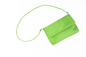 colorful fashionable clutch bag isol