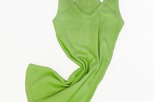 Colored Sleeveless shirt isolated on