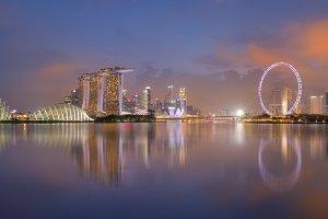 Singapore panorama night view