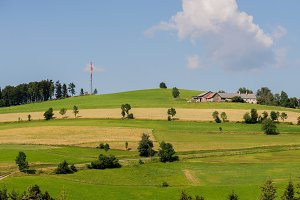 Panoramic view of idyllic landscape