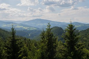 Panoramic view of idyllic mountain