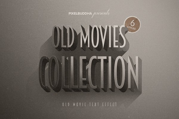 Photoshop Layer Styles: Pixelbuddha - Old Movie Titles Collection