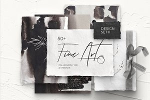 FINE ART ll modern design set (ink)
