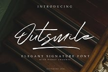 Outsmile Elegant Signature Font by  in Script Fonts