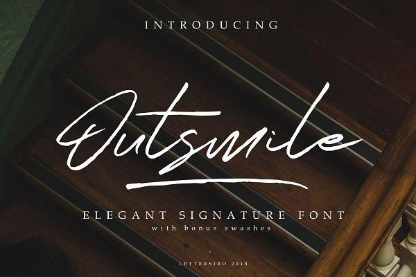 Fonts: Lettersiro - Outsmile Elegant Signature Font