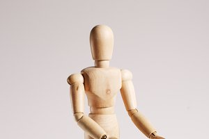 Wooden mannequin for painting