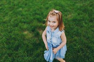 Pretty happy little cute child baby