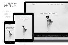 Wice - One Page Personal & Portfolio