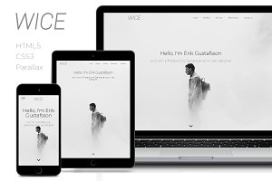 Wice - One Page Personal & Portfolio