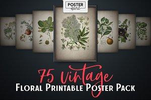 75 Vintage Floral Botanical Posters