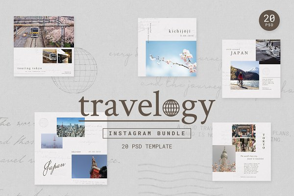 Templates: muhisya - Instagram Bundle - TRAVELOGY
