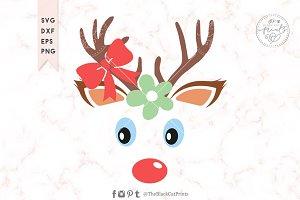 Baby Reindeer face SVG DXF EPS PNG