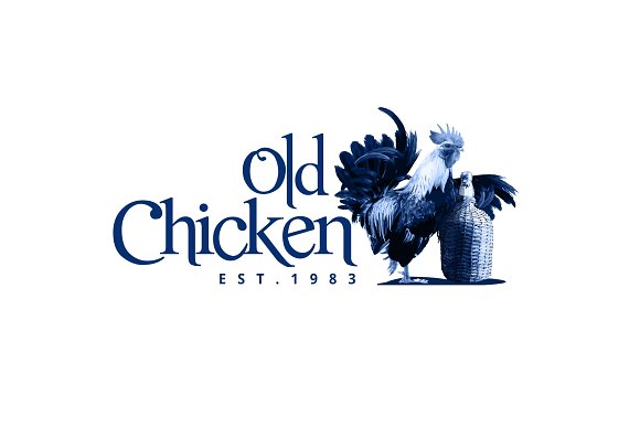 Old Chicken Logo Template