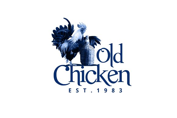 Old Chicken Logo Template in Logo Templates - product preview 1