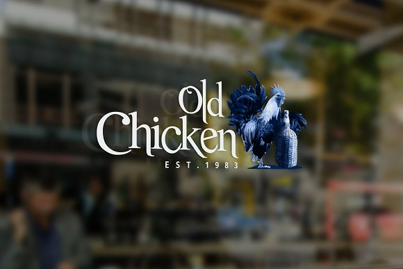 Old Chicken Logo Template in Logo Templates - product preview 2