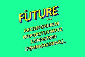 Slanted 3D Sans Serif Font.