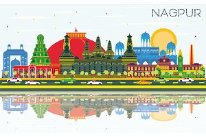 Nagpur India City Skyline