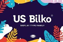 US Bilko - Semi-Slab Display Font  by  in Slab Serif Fonts