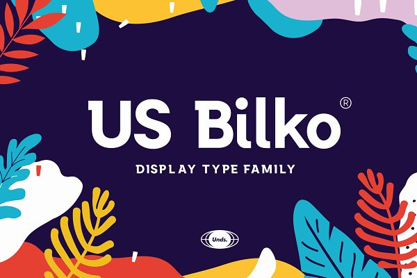 Slab Serif Fonts: Postal -- - US Bilko - Semi-Slab Display Font