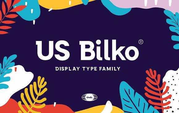 US Bilko - Semi-Slab Display Font