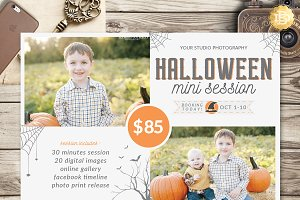 Halloween Mini Session Flyer MS016