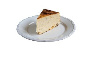 Cottage cheese baked pudding in a ru