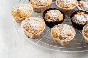 vanilla pumpkin muffins, cakes sprin