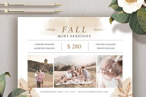 Fall Mini Session Template MS038
