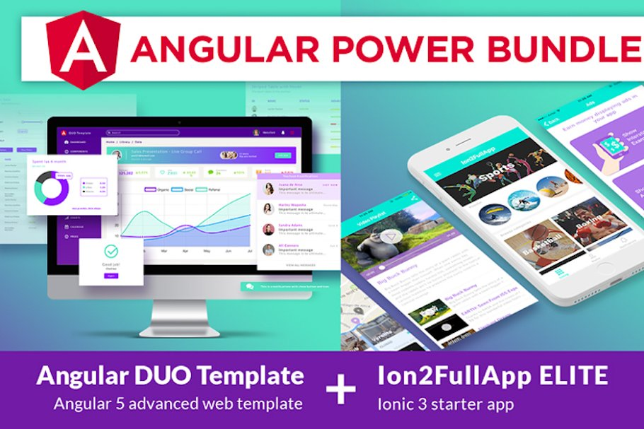 Ion2FullApp ELITE - Ionic Template ~ App Templates ~ Creative Market