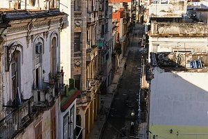 Old Havana road and the dome of the