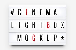 Cinema Lightbox Letters Mockup