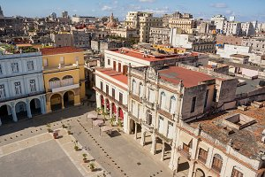 Old Havana square seen from above