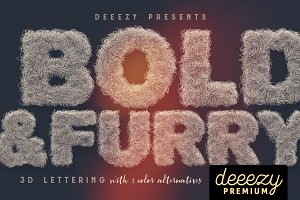 Bold & Furry – 3D Lettering