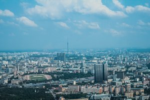 Panoramic view of the Moscow city