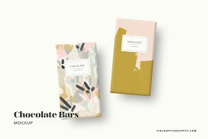 Chocolate Bar Mockup Bundle