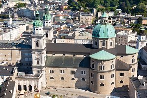 The old city of Salzburg, Austria