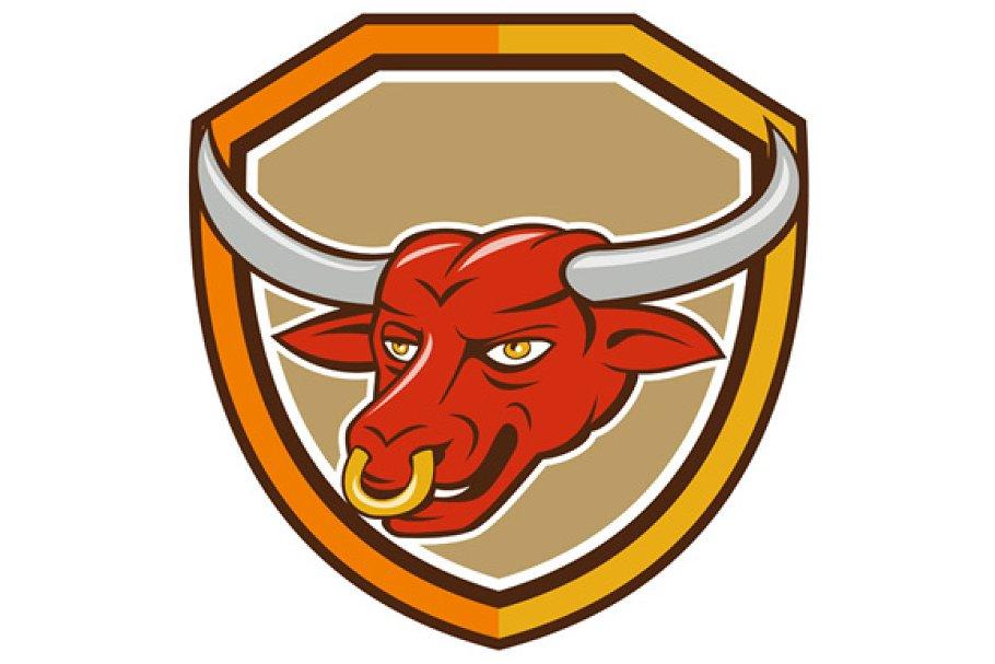 Texas Longhorn Red Bull Head Shield