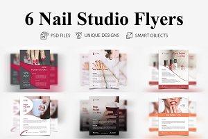 6 Nail Studio Flyer