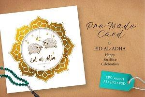 7. Eid Al-Adha Pre-Made Card