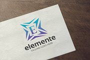 Letter E - Elemente Logo