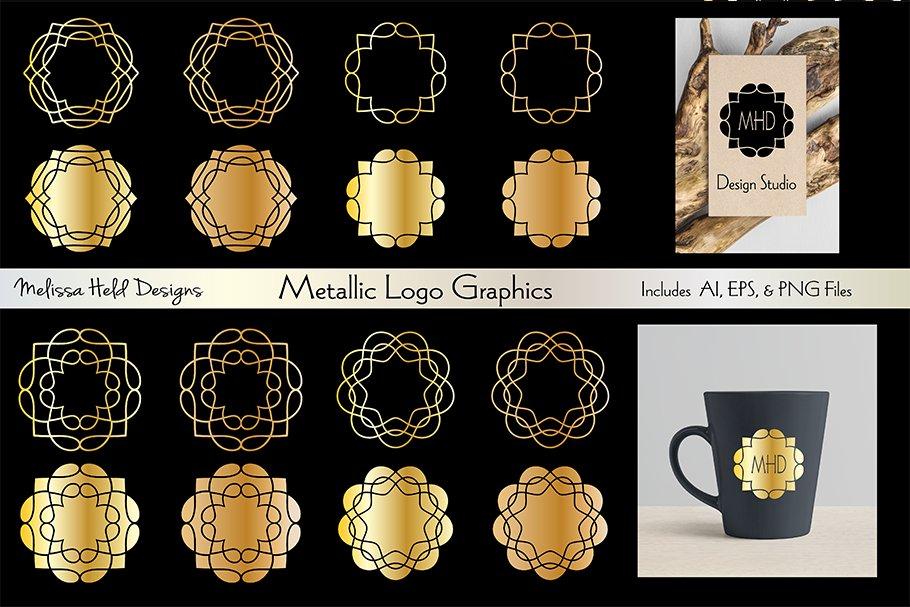 Metallic Logo Graphics