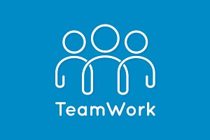 Teamwork icon line business concept