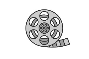 Filmstrip roll color icon