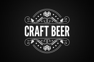 Beer vintage label. Craft beer logo