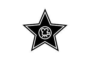 Movie star plaque glyph icon