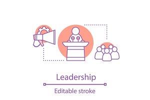 Leadership concept icon